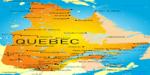 Quebec map in Canada